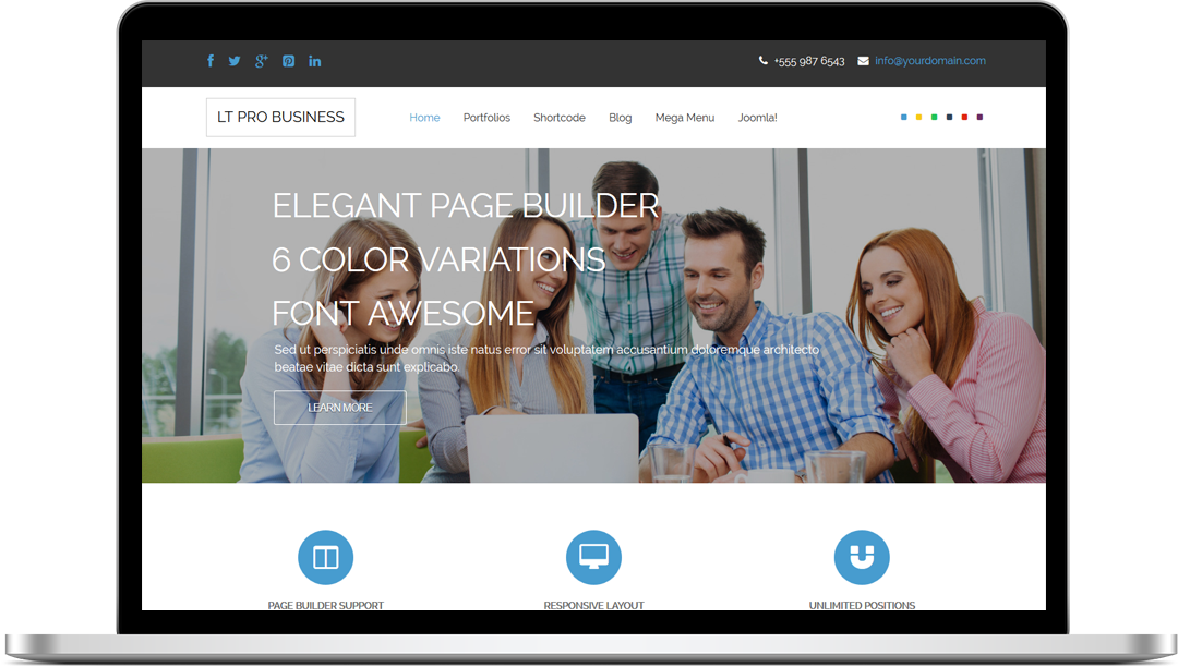 LT Pro Business Onepage - Free Joomla! Template