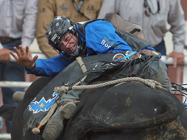CALGARY ? Bull rider Ty Pozzobon won't compete without his head tucked ...