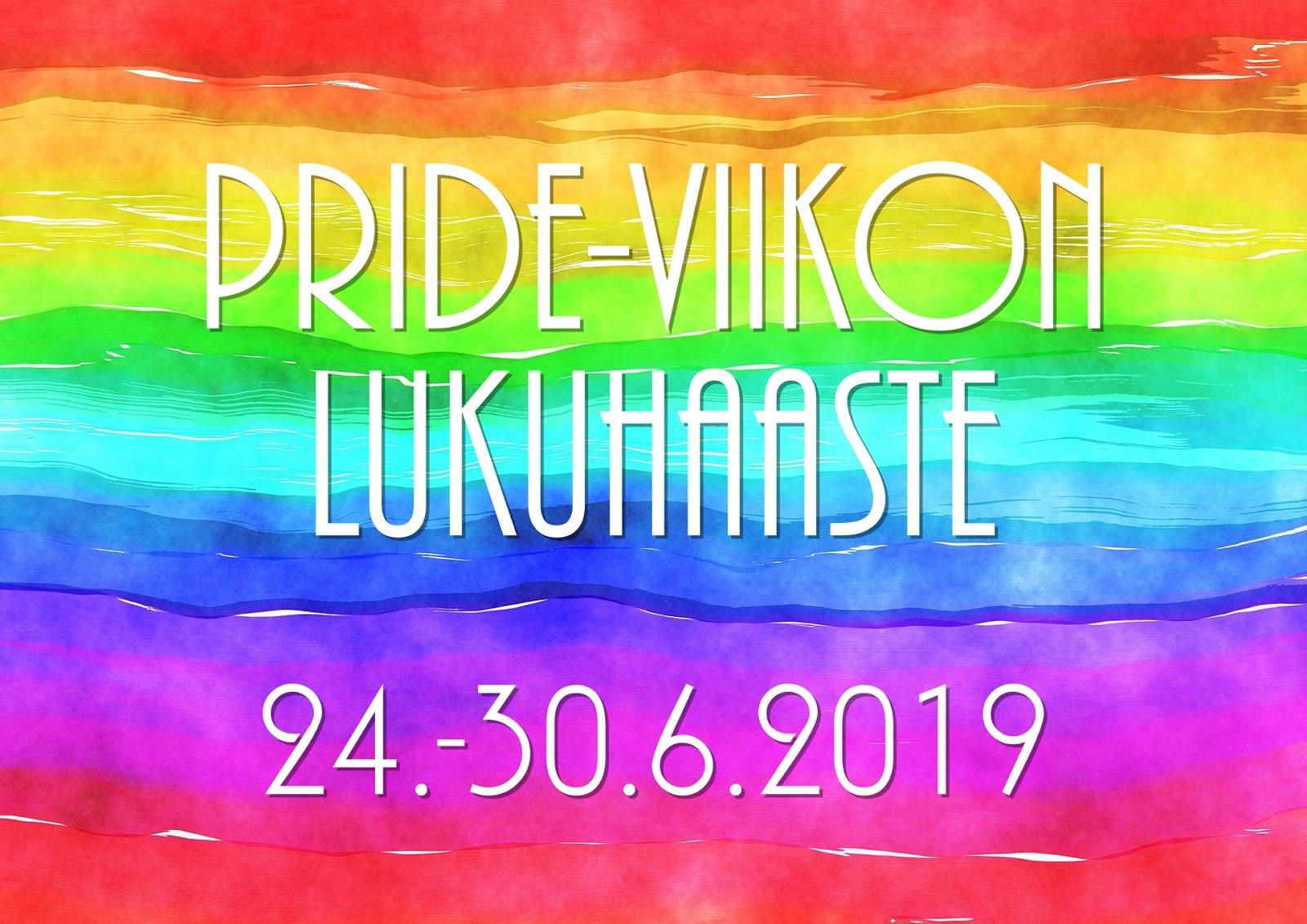 Pride-viikon lukuhaaste (24.-30.6.2019)