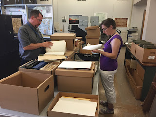 Kurt_Bell_and_Corine_Lehigh_examine_Shapp_papers