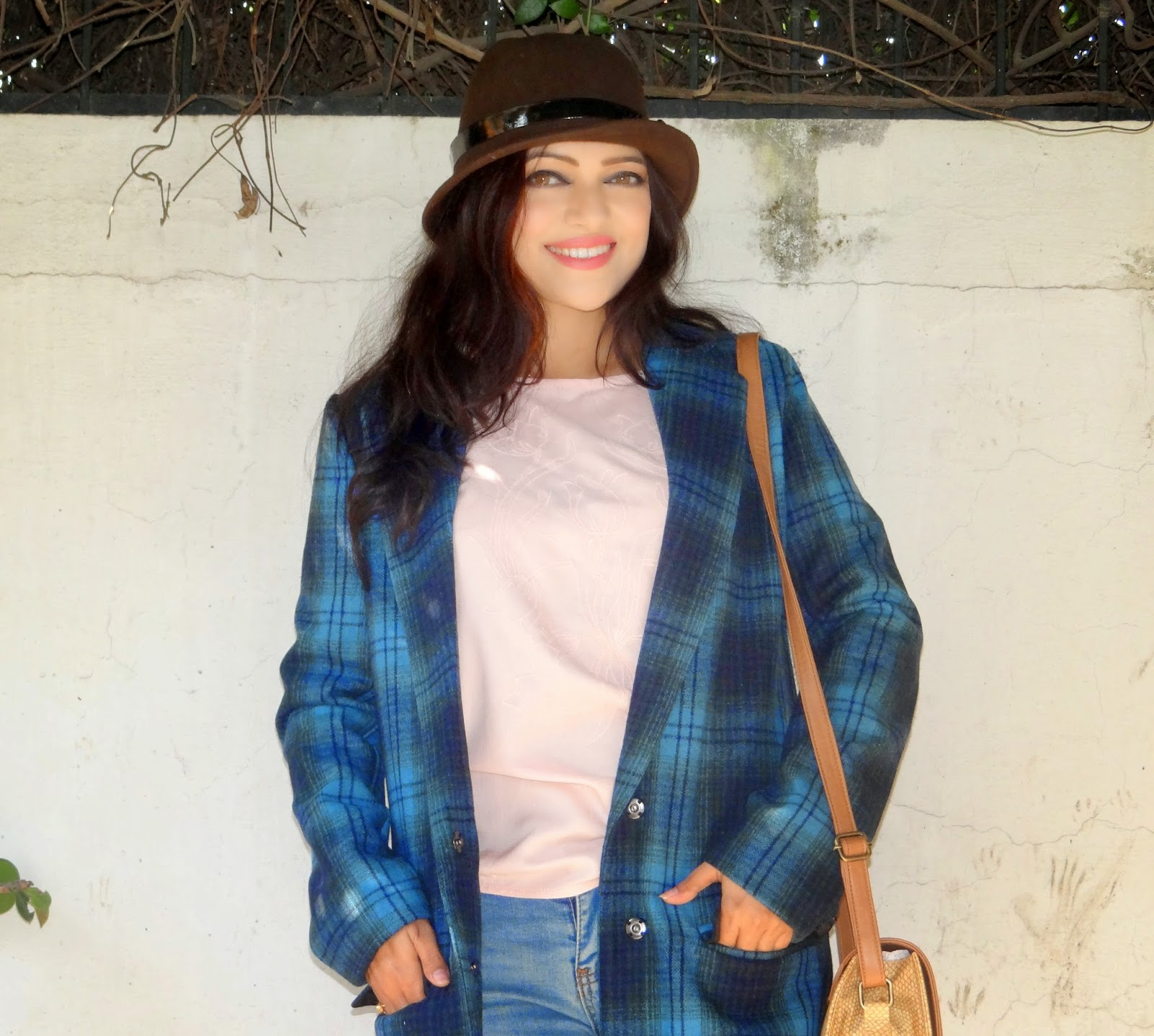 StyleMoi plaid coat