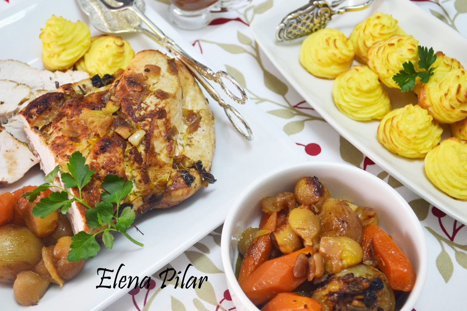 Mi recetario por elena pilar pechuga de pavo al horno con for Como cocinar pechuga de pavo