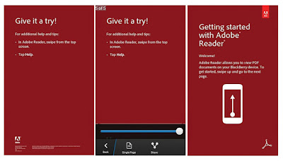 Adobe Reader for BlackBerry 10, My Curve 9300