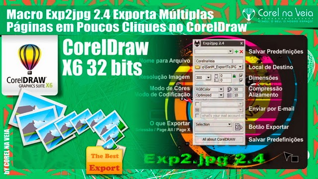 Macro Exp2jpg 2.4 Exporta Múltiplas Páginas em Poucos Cliques no CorelDraw