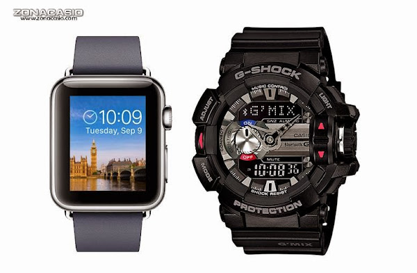 casio & apple smart watch