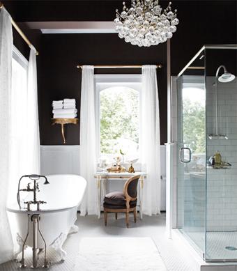 Pintura y madera ba os en blanco y negro - Banos blanco y negro ...