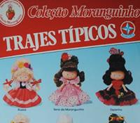 Propaganda da Coleção Moranguinho com série de trajes típicos apresentado nos anos 90.