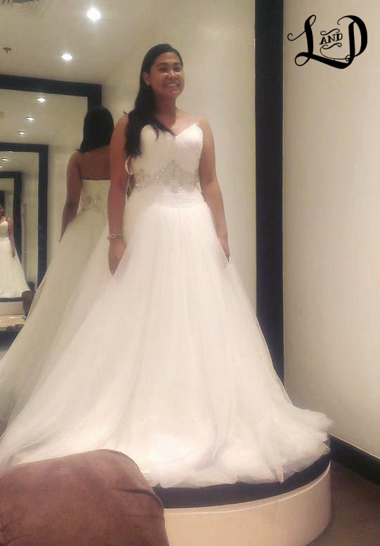 Louie and Dheng | 11.08.2014: Hunt for the Wedding Gown: Landmark Makati