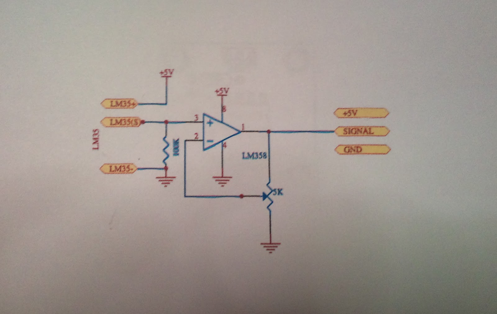 Final Year Project Home Patient Monitor Fyp Week 5 Lm35 Circuit Figure 3 Schematic Diagram For The Temperature Sensor By Using