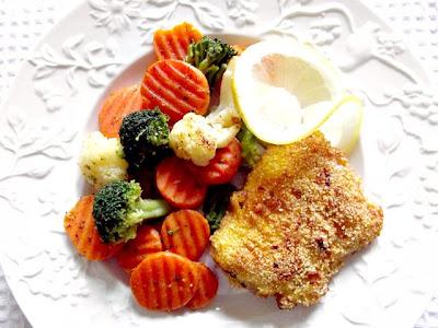 Cod în lămâie cu stir-fry de broccoli