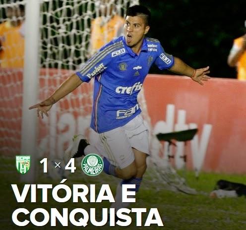 Palmeiras goleia Vitória da Conquista e evita jogo de volta
