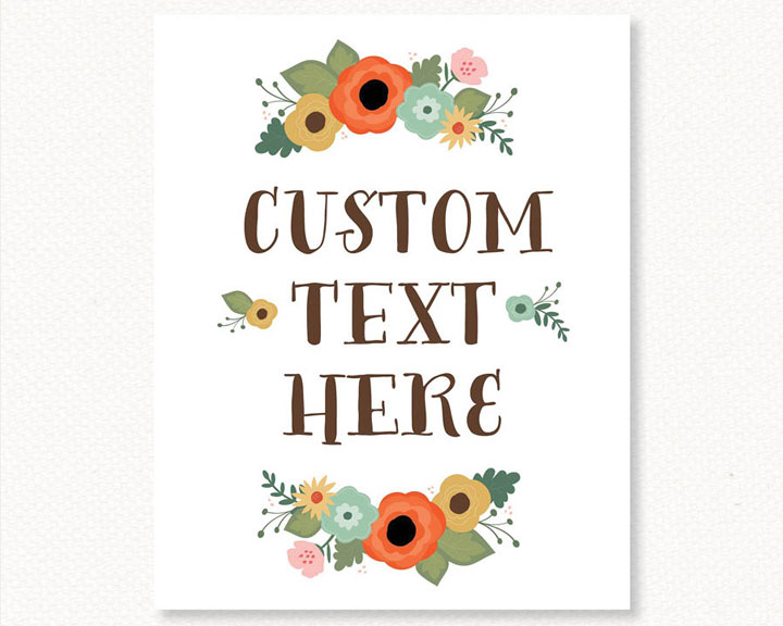 Kimberly Church || Custom Floral Poster