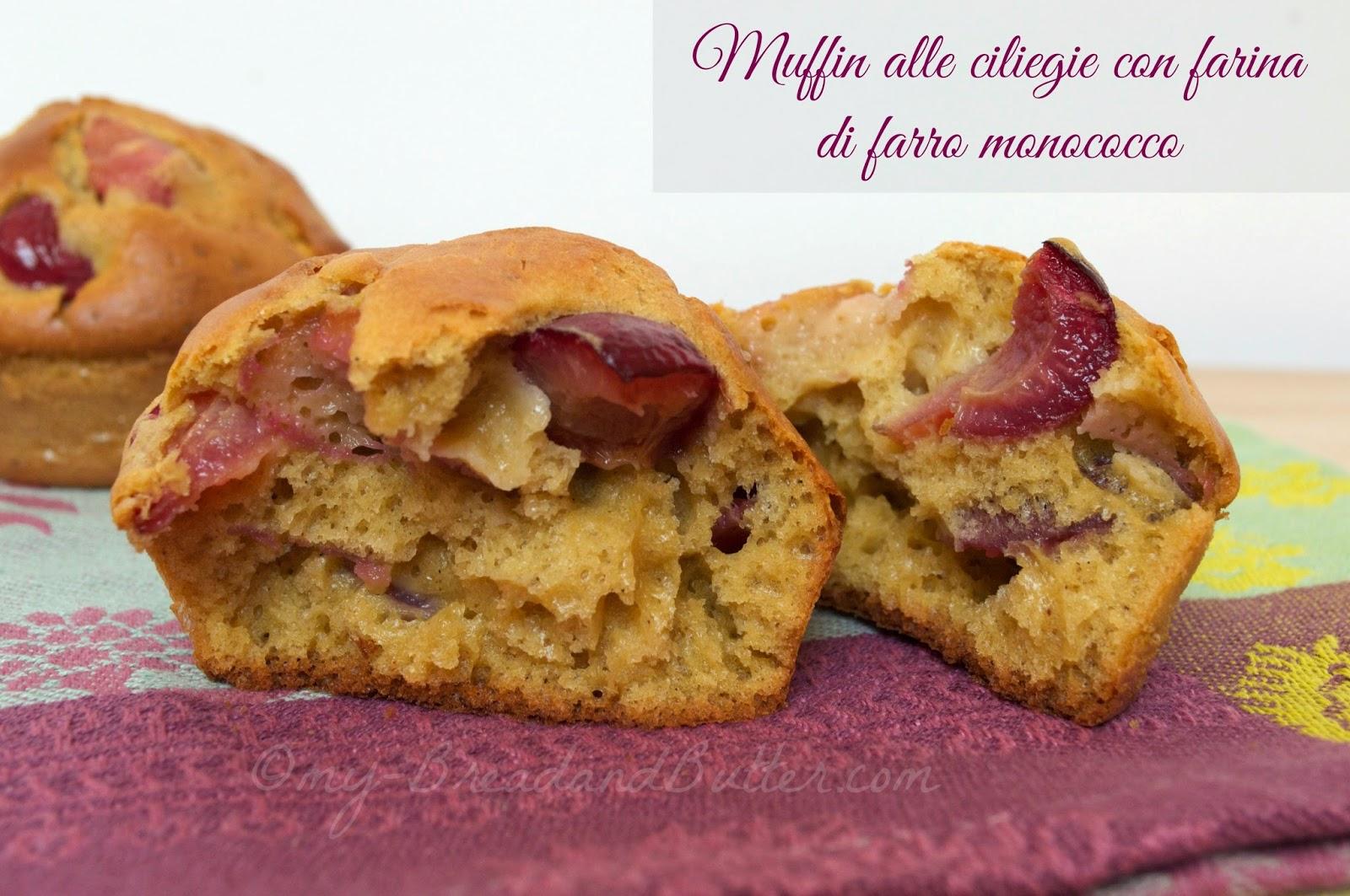 Muffin integrali alle ciliegie