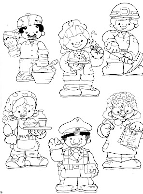 Desenhos de profissões para colorir e imprimir