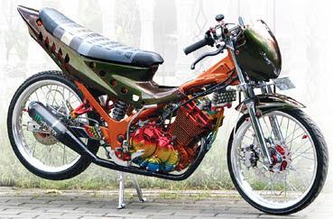 modifikasi motor satria fu