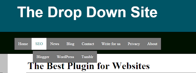 Simple Navigation's Menus for Websites aand Blogger