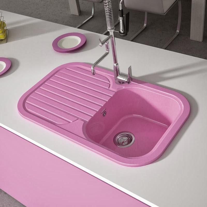 fregadero cocina CORAL color seno con escurridera pilas lavabos