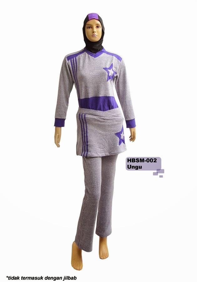 Contoh Model Baju Muslim Senam Wanita 2015