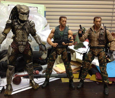 NECA Predator Series 8 Classic Predator and Dutch final product figures