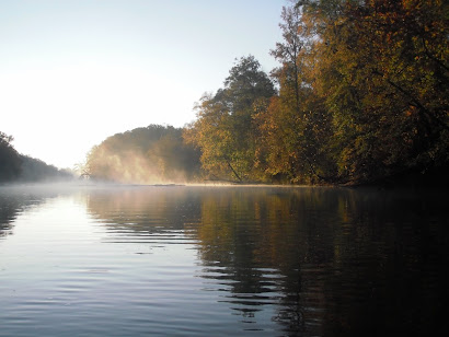 Fall morning on the river