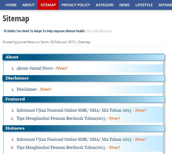 Cara Membuat Daftar Isi/Sitemap SEO Blogspot Berdasar Label/Kategori Terbaru 2015