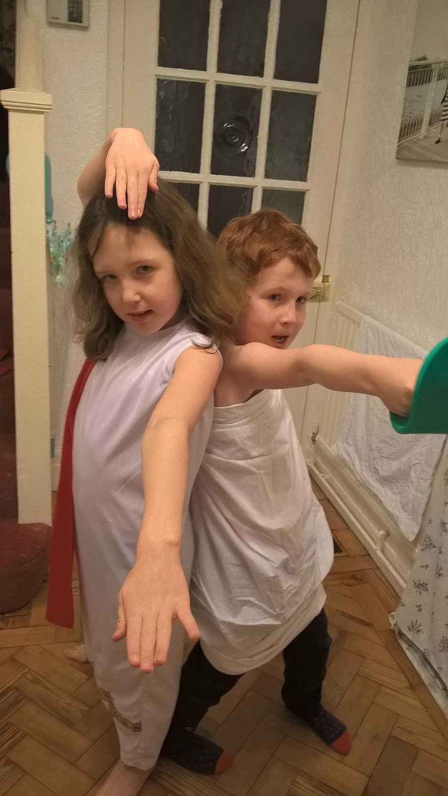Caitlin & Ieuan as Romans - motherdistracted.co.uk