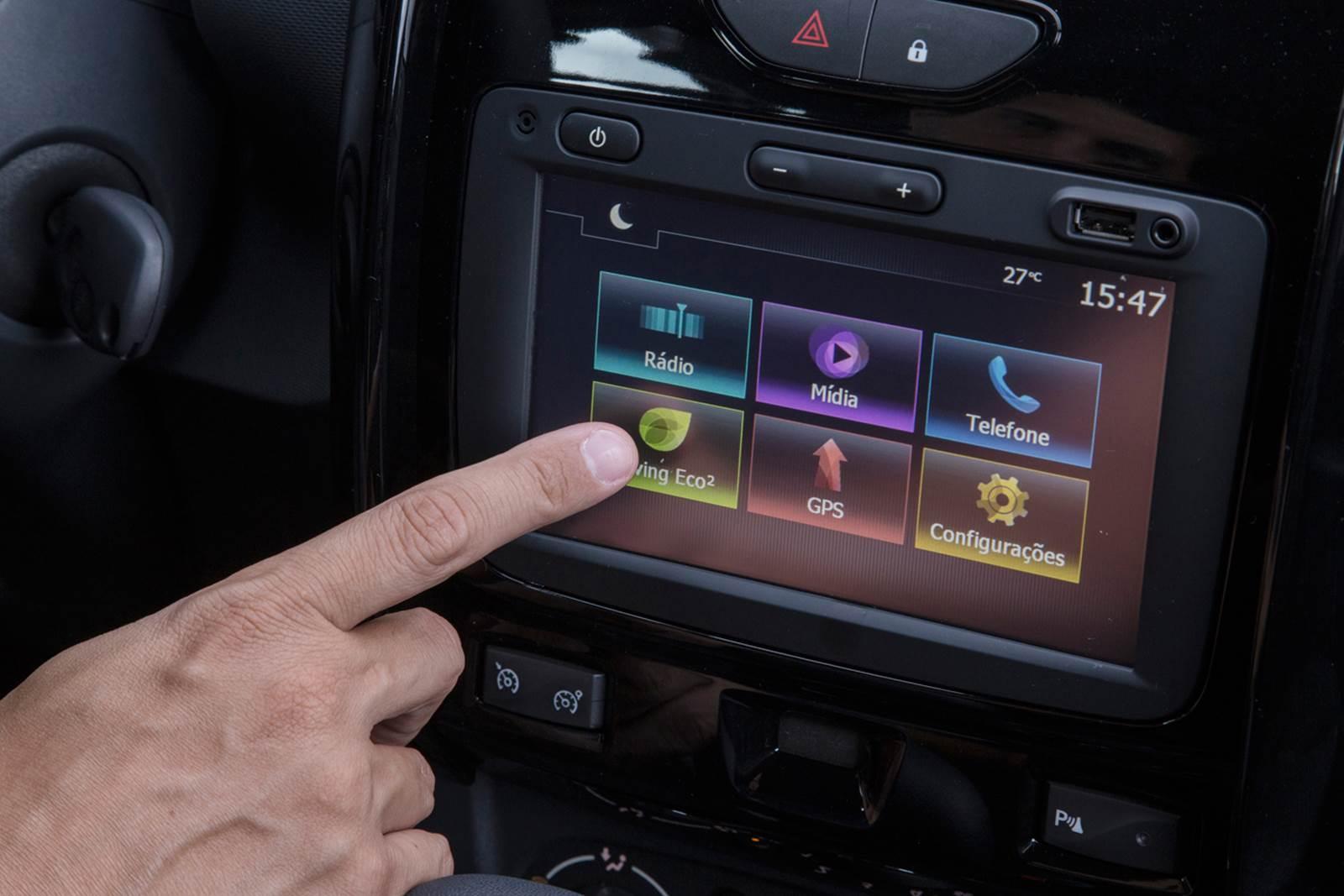 Novo Renault Duster 2016 - sistema multimídia