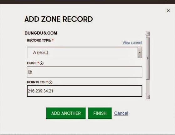godaddy zone record