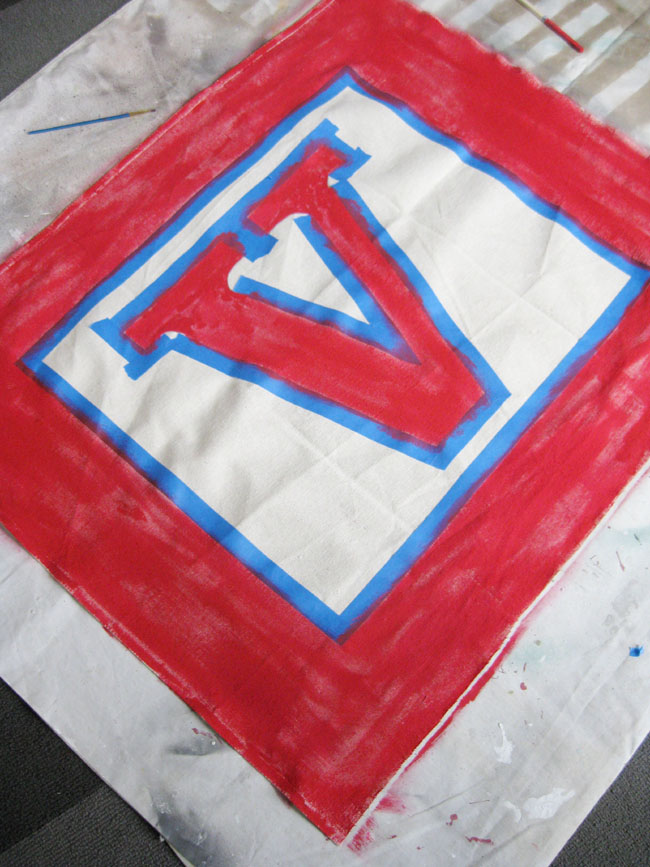 how to paint alphabet block letters on canvas