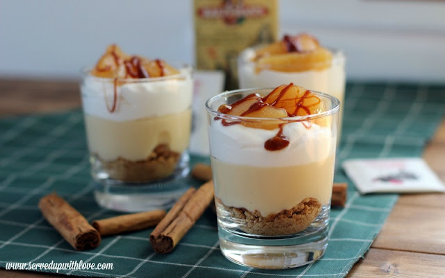 Spiced Apple Cider No Bake Cheesecakes