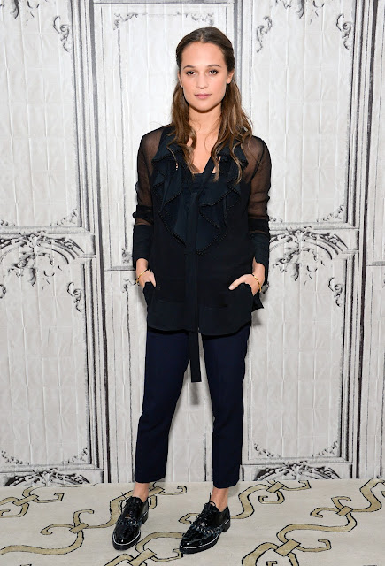 Actress, @  Alicia Vikander - AOL's BUILD Speaker Series in NYC