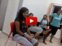tamil girl friends talking bad words beating slapping their girl friend in a ladies hostel room