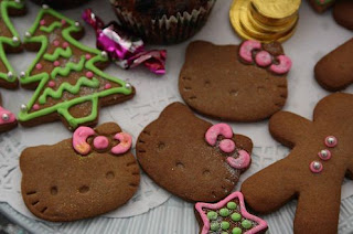 Hello Kitty Christmas gingerbread cookies biscuits treat