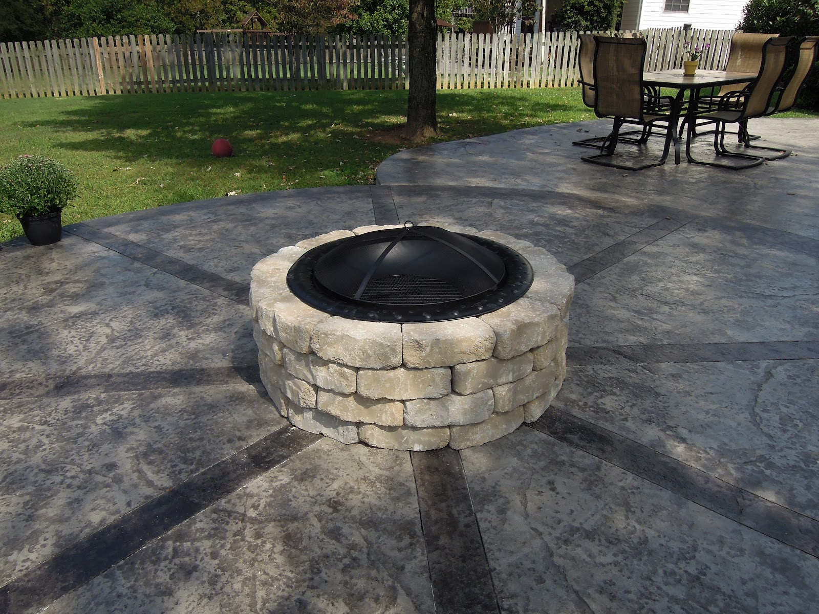 how to build built-in firepit
