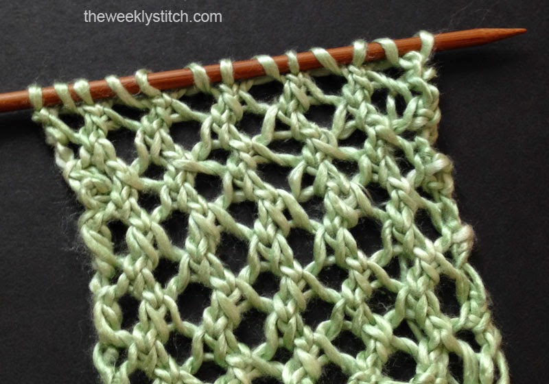 Lacy Grille Stitch The Weekly Stitch