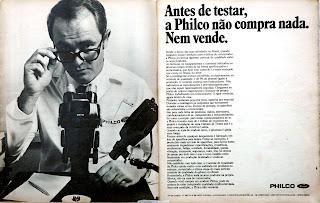 propaganda Philco - 1975. propaganda década de 70. Oswaldo Hernandez. anos 70. Reclame anos 70 .