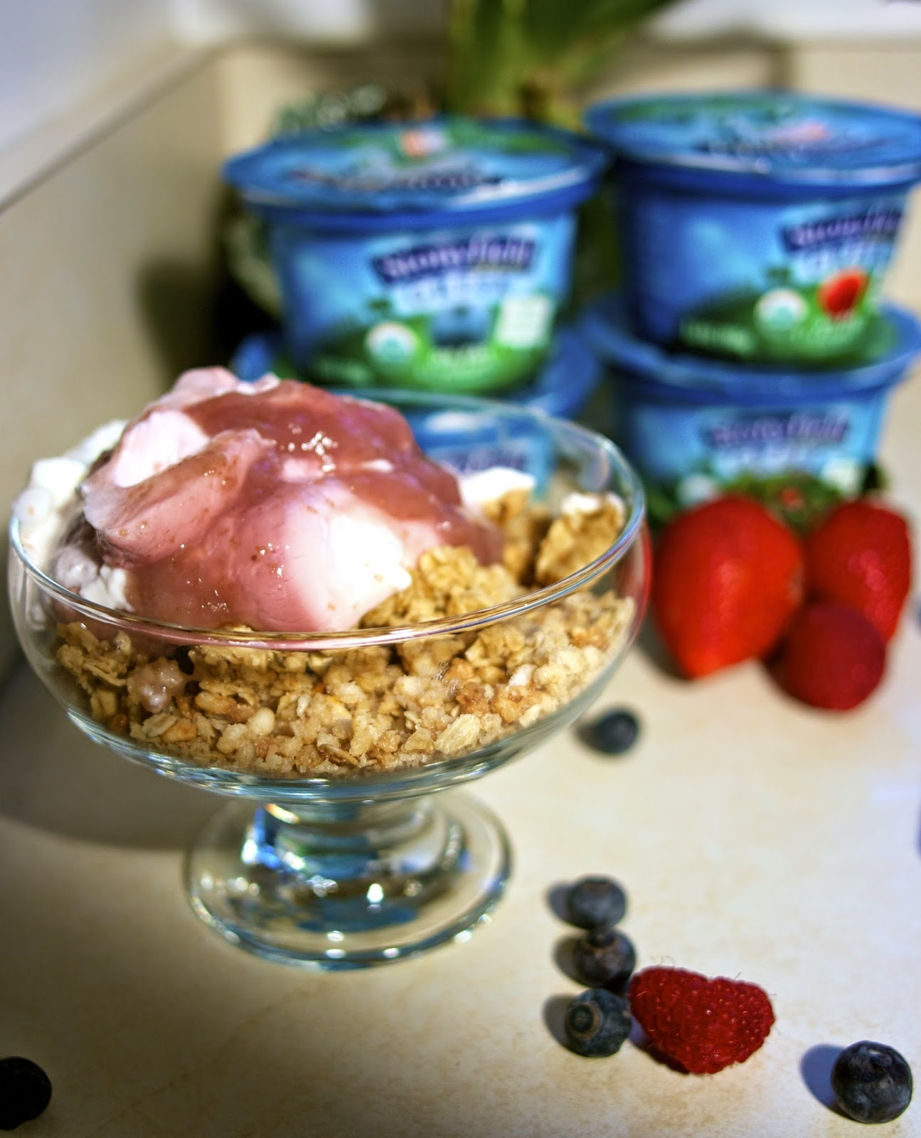 Stonyfield Greek Yogurt: Breakfast: simplelivingeating.com
