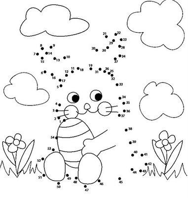 Desenhos Para Colori Ligar pontos coelhos e outros desenhar