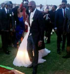 2face idibia white wedding photos