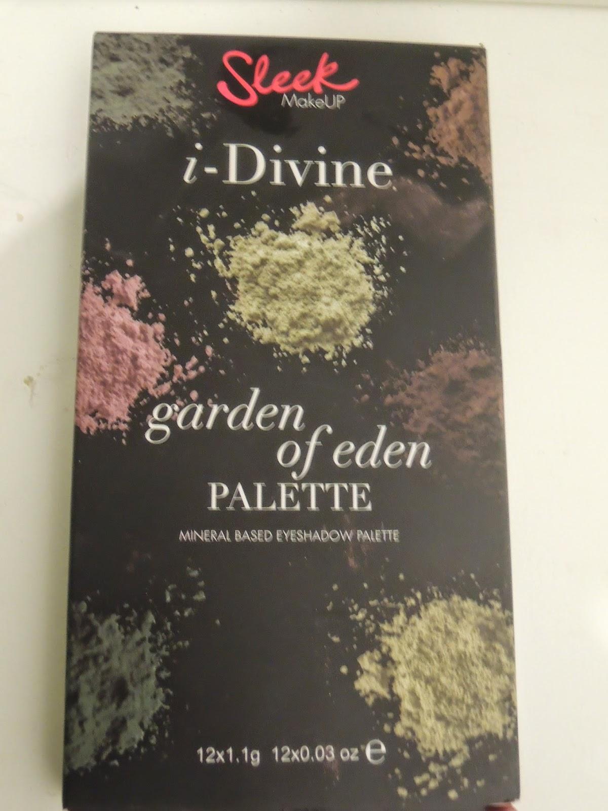 Witamy w raju, czyli paleta Sleek Garden of Eden