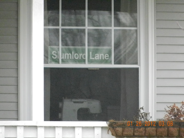 This is a sign in the front window of the BLV clerk Honest Ethel Nemeth's house in BLV.