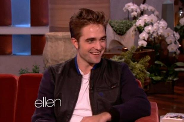 Robert Pattinson em entrevista à Ellen Degeneres (Foto: Reprodução)