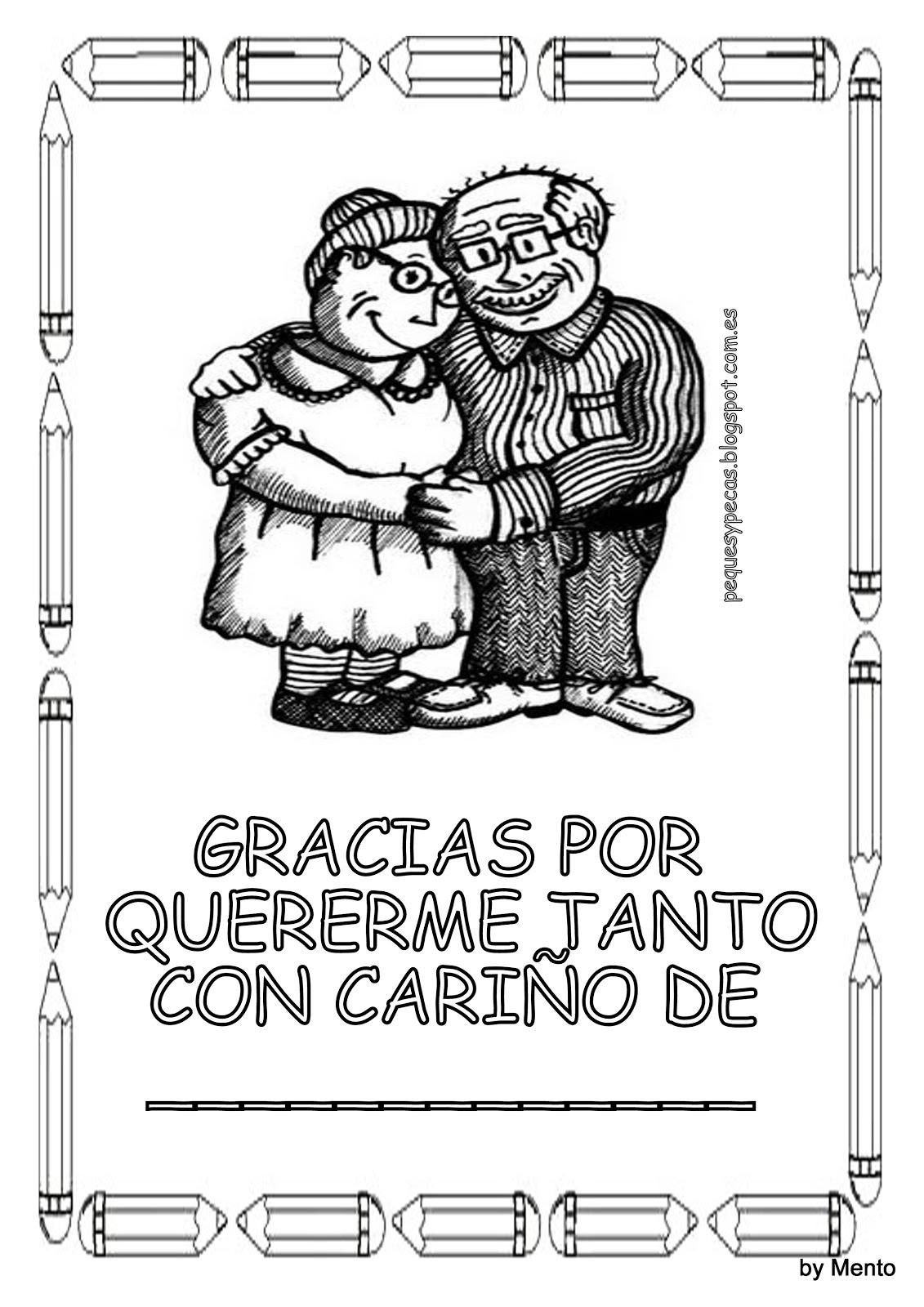 Dibujos del día del abuelo para colorear - Imagui