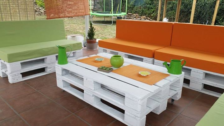 muebles de terraza con palets - Terraza Con Palets