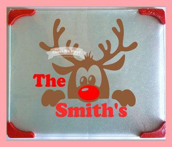 Reindeer Cutting Board