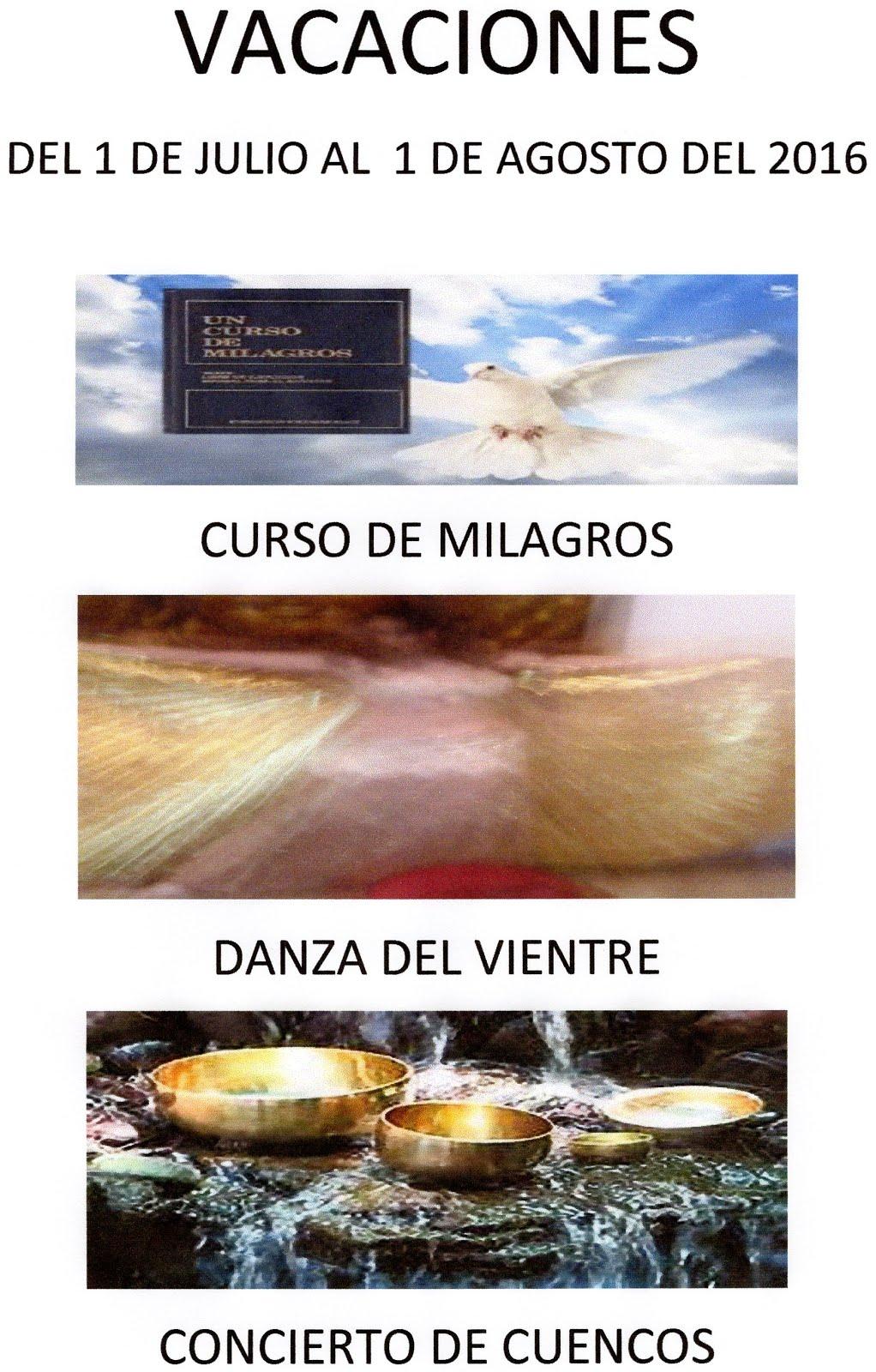 VACACIONES JULIO Y AGOSTO