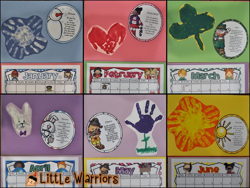 April Handprint Calendar : Hoppin handprint calendar