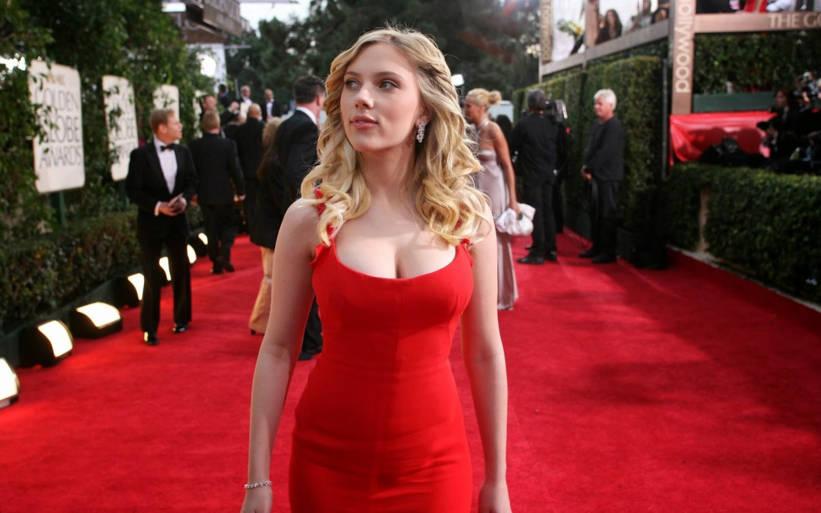 Beautiful Hollywood Actress Scarlett Johansson on Red Carpet