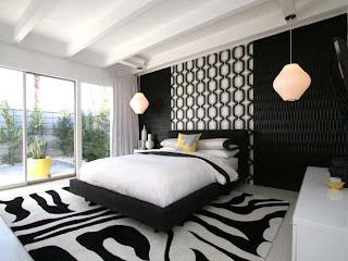 Tema wallpaper tempat tidur minimalis modern