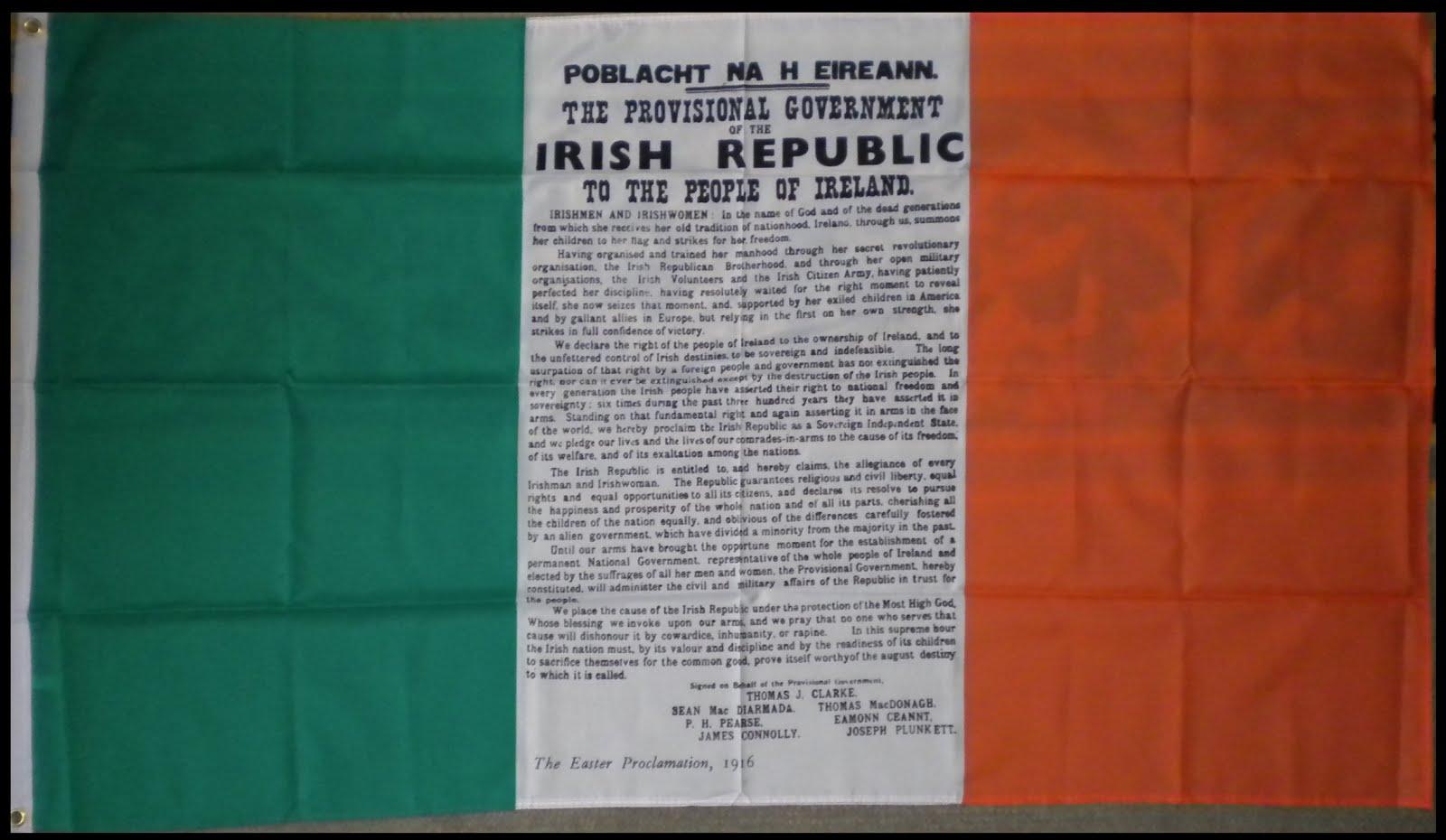 Bandera Tricolor Irlandesa Proclamación - 14€